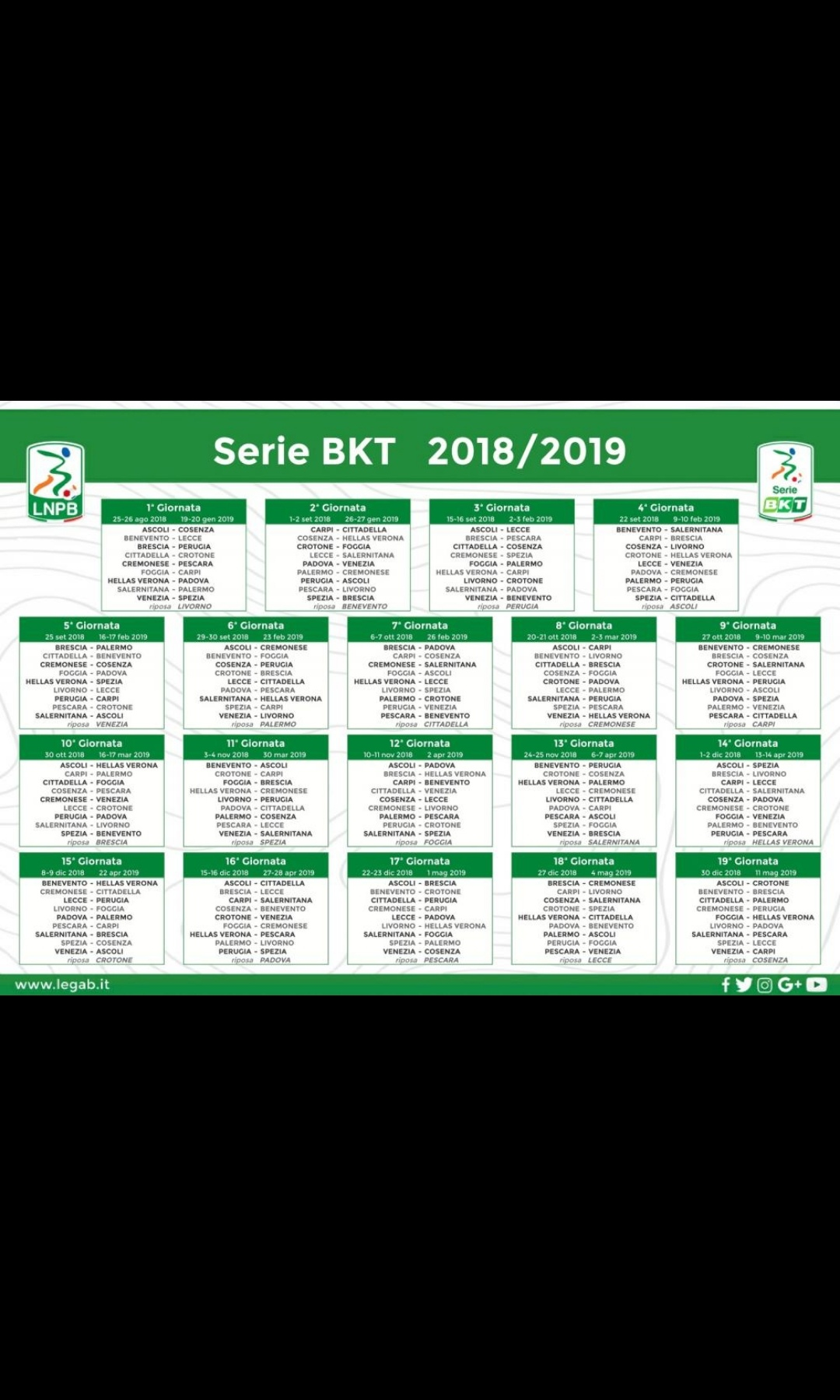 Calendario Serie B 18 19.E Nata La Nuova Serie B Ecco Il Calendario Completo Radio