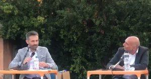 Il giornalista Gabriele Guastella con il Sindaco di Castelfranco di Sotto Gabriele Noli